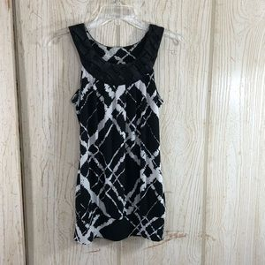 Heart Soul Braided Collar Top Small S19